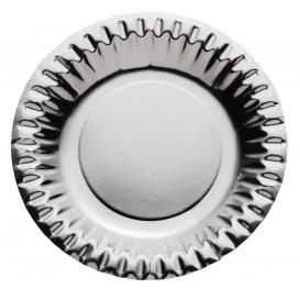 Assiette ronde Carton Argenté 180mm (300 Unités)
