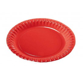 "Papieren bord Rond vormig ""Party"" rood 29cm (60 stuks)"