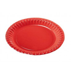 Assiette ronde Carton Rouge 290mm (60 Unités)