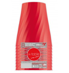 "Gobelet Plastique PP ""X-Table"" Rouge 320ml (8 Utés)"