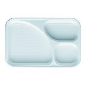 Barquette Plastique Blanc 3C 315x210mm (100 Utés)