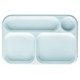 Plastic Compartment dienblad wit 4C 36x24cm (100 stuks)