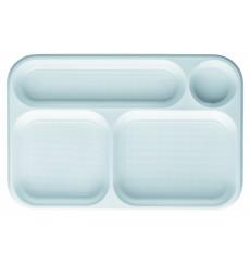 Barquette Plastique Blanc 4C 360x240mm (100 Utés)