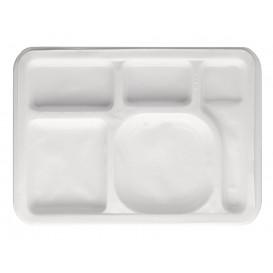Plastic Compartment dienblad wit 47x35cm (500 stuks)