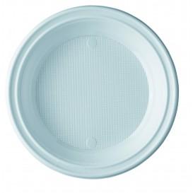 Assiette Plastique PS Creuse Blanche 205mm (100 Unités)