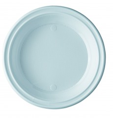 Assiette Plastique Blanche 205mm (100 Unités)