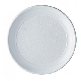Assiette Plastique PS Plate Blanche 250mm (100 Unités)
