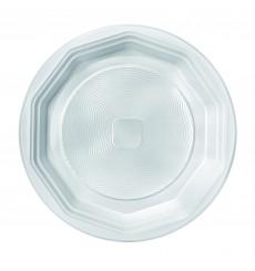 Assiette Plastique Blanche Fond PS 220 mm (1600 Unités)