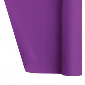 Papieren tafelkleed rol paars 1,2x7m (25 stuks)