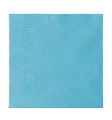 Serviette Papier 2 épaisseurs Bleu Clair 33x33cm (50 Unités)