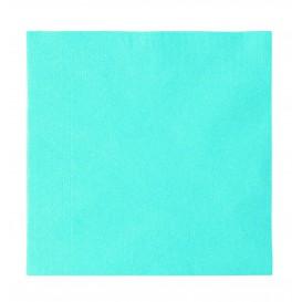 Papieren servet 2 laags lichtblauw 33x33cm (1200 stuks)