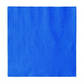Papieren servet 2 laags donkerblauw 33x33cm (50 stuks)