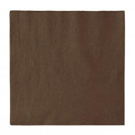 Papieren servet 2 laags chocolade 33x33cm (1200 stuks)