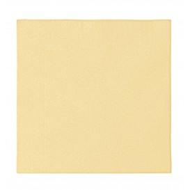 Papieren servet 2 laags crème 33x33cm (50 stuks)