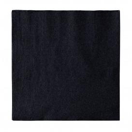 Papieren servet 2 laags zwart 33x33cm (50 stuks)