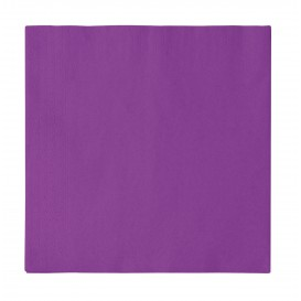 Papieren servet 2 laags paars 33x33cm (50 stuks)