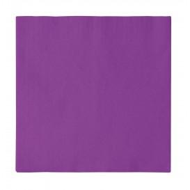 Papieren servet 2 laags paars 33x33cm (1200 stuks)