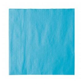 Serviette Papier 2 épaisseurs Turquoise 33x33cm (1200 Utés)