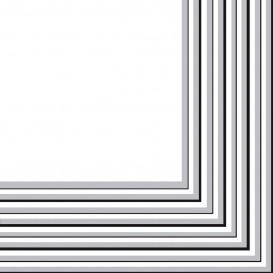 Serviette Papier 2 épaisseurs Argenté 33x33cm (480 Unités)