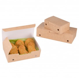 Papieren take-out doos medium maat kraft 1,45x0,90x45cm (450 stuks)