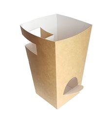 Boîte Carton pour Churros avec Chocolat Kraft 78x78x179mm (500 Uds)