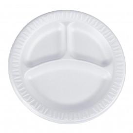 """Schuim bord Foam """"Quiet Classic"""" 3 C. gelamineerd wit Ø23 cm (500 stuks)"""