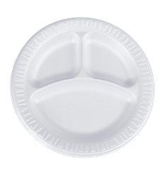 """Assiette FOAM """"Quiet Classic"""" 3 C. Thermique Blanc Ø230mm (125 Unités)"""