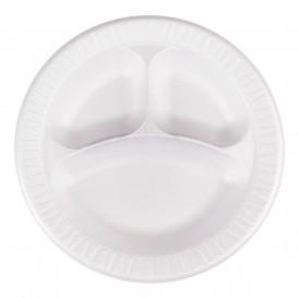 """Schuim bord Foam """"Quiet Classic"""" 3 C. gelamineerd wit Ø26 cm (125 stuks)"""