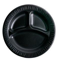 """Assiette Thermique FOAM """"Quiet Classic"""" 3 C. Noir Ø230mm (500 Unités)"""