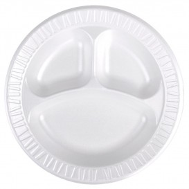 "Schuim bord Foam ""Concofde"" 3 C. wit Ø23 cm (125 stuks)"