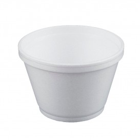 Pot en Foam Blanc 6OZ/180ml Ø8,9cm (50 Unités)