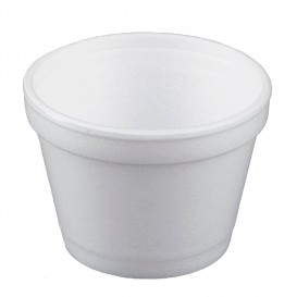 Pot en Foam Blanc 4OZ/120ml Ø7,4cm (50 Unités)