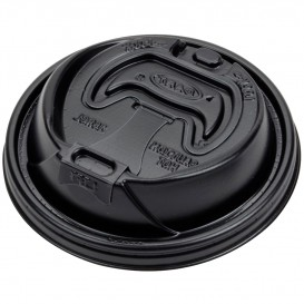 """Couvercle """"Lift n' Lock"""" PS Noir Ø9,4cm (1.000 Utés)"""