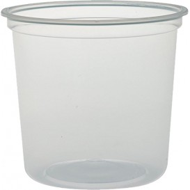 "Plastic deli Container PP ""Deli"" 24Oz/710ml transparant Ø12cm (25 eenheden)"