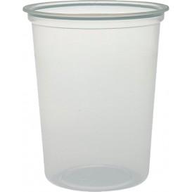 "Plastic deli Container PP ""Deli"" 32Oz/960ml transparant Ø12cm (25 eenheden)"
