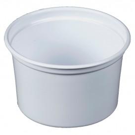"""Récipient en Plastique PP """"Deli"""" 16Oz/473ml Blanc Ø120mm (500 Unités)"""