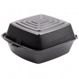 Schuim burger dozen take-out zwart 1,50x1,50x0,80cm (125 stuks)