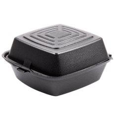 Boîte à HAMBURGER FOAM Noir 150x150x80mm (500 Unités)