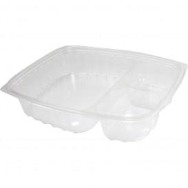 """Plastic deli Container OPS """"transparantPac"""" 3 Compartmenten transparant 887ml (63 stuks)"""