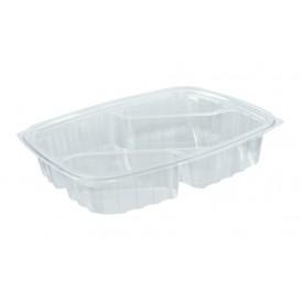 "Plastic deli Container OPS ""transparantPac"" 3 Compartmenten Diagonal transparant 887ml (252 stuks)"