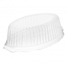 Plastic hoge Deksel PS transparant voor Foam Pot 18x13x5 cm (1000 stuks)