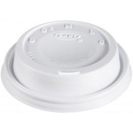 "Plastic Deksel PS ""Cappuccino"" wit Ø8,1cm (100 stuks)"