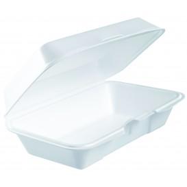 Boîte FOAM Lunchbox Couvercle Détachable Blanc 225x140mm (250 Utes)