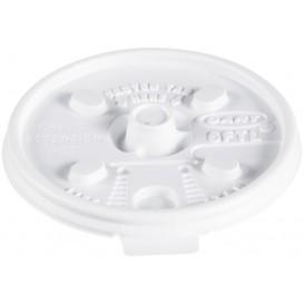 Plastic Deksel PS Hersluitbaar wit Ø7,4cm (100 stuks)
