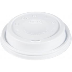 """Couvercle plastique PS """"Cappuccino"""" Blanc 24Oz/710 ml (1000 Unités)"""