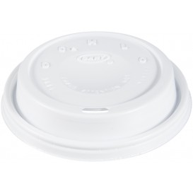 "Plastic Deksel PS ""Cappuccino"" wit Ø9,4cm (1000 stuks)"