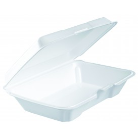 Boîte en FOAM LunchBox Blanc 230x150X65mm (200 Utes)