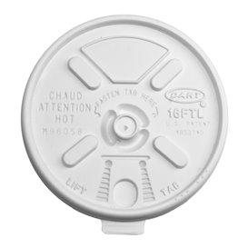 "Couvercle ""Lift n' Lock"" PS Blanc Ø9,4cm (1000 Utés)"