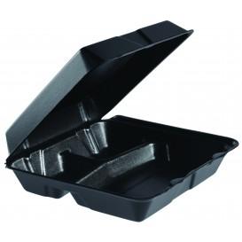 Boîte en FOAM MenuBox 3C. Détachable Noir 240x235mm (100 Utes)