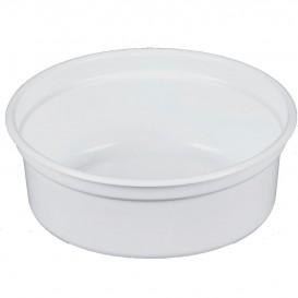 """Récipient en Plastique PP """"Deli"""" 8Oz/266ml Blanc Ø120mm (500 Unités)"""